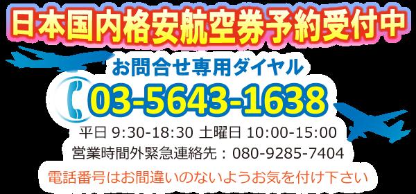 日本国内格安航空券